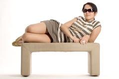 Lucy sur le sofa Photographie stock libre de droits