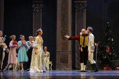 Lud den Prinzen ein, zum Tanz-D Ballett-Nussknacker nach Hause zu kommen Stockfotos