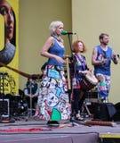 Lud grupa muzycy Zdjęcia Stock