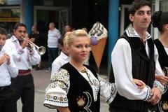 lud tradycyjny grupowy Romania Zdjęcie Stock