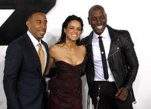 Ludacris, Michelle Rodriguez och Tyrese Gibson Arkivfoto