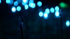 Luddig ledd ljus bakgrundsvideo stock video