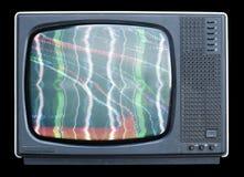 luddig tv Arkivfoto