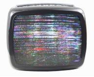 luddig tv Arkivfoton