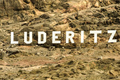 Luderitz City Sign Royalty Free Stock Image
