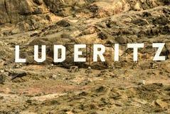 Luderitz City Sign Royalty Free Stock Image