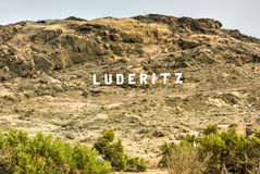 Luderitz City Sign Royalty Free Stock Photo