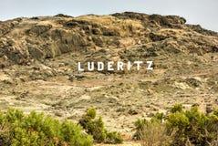 Luderitz miasta znak Zdjęcie Royalty Free