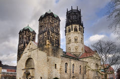 Ludgeri Church in Munster, Germany Stock Photos