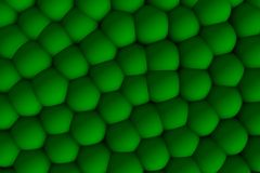 Green celular relief 3d in shadows. Royalty Free Stock Photo