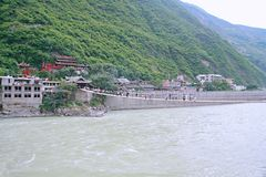 Luding-Brücke in Sichuan Stockfotos