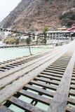 Luding Chain bro Fotografering för Bildbyråer