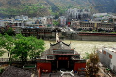 LuDing, China: Guan Yin Gu Temple & Town Stock Photography