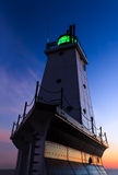 Ludington Latarni morskiej Afterglow Fotografia Stock