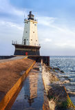 Ludington LIght Reflection Stock Photography