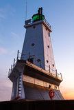 Ludington Light at Sundown Royalty Free Stock Photo