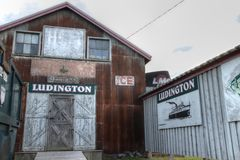 Ludington Michigan Waterfront District Stock Image