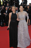 Ludivine Sagnier & Zhang Ziyi. CANNES, FRANCE - MAY 25, 2013: Ludivine Sagnier & Zhang Ziyi (right) at the gala premiere for Venus in Fur in competition at the Royalty Free Stock Images
