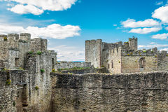 Ludlow城堡在萨罗普郡 库存图片