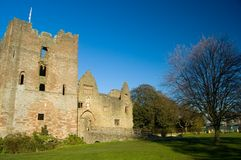 Ludlow castle. The Ludlow castle in England Stock Photo
