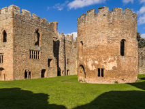 Ludlow Castle, England. The Great Hall and Round Chapel at Ludlow Castle. Shropshire, England Stock Photos