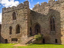 Ludlow Castle, England. The Great Hall at Ludlow Castle. Shropshire, England Royalty Free Stock Image