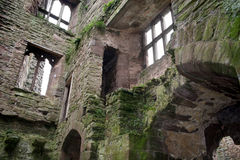 Ludlow Castle Interior. In one of the rooms of the ruined Ludlow Castle in Shropshire, England royalty free stock photo