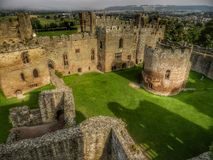 Ludlow Castle, Shropshire. England. 12th century castle Royalty Free Stock Images