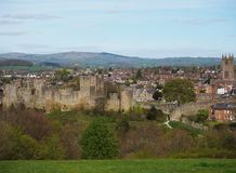 Ludlow castle and town Stock Photos