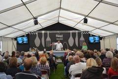 Ludlow cookery demonstration. LUDLOW, UK, SEPTEMBER 13: Cookery demonstration at Ludlow Food Festival, September 13, 2013. Ludlow hosts the annual prestigious Stock Photography