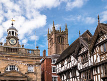 Ludlow - Historic English Town. Historic buildings in the centre of Ludlow in Shropshire, England, UK Royalty Free Stock Photo