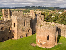 Ludlow-Schloss, England Stockfotografie