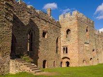 Ludlow-Schloss, England Lizenzfreie Stockbilder