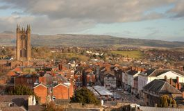 Ludlow, Shropshire. The historic market town of Ludlow, Shropshire, England Royalty Free Stock Photography