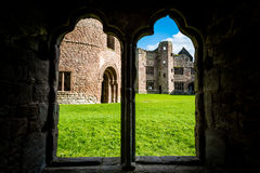 Ludlow slott i Shropshire royaltyfria bilder
