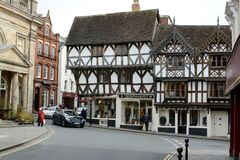 Ludlow town centre, Shropshire Royalty Free Stock Photo