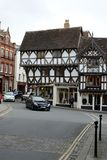 Ludlow town centre, Shropshire. Ludlow town centre, showing old historic buildings and architeture in Shropshire, UK Stock Photo