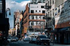 Ludlow Uliczny widok Chinatown w lower manhattan zdjęcie stock