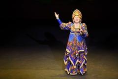 Ludmila Rumina au concert Photos stock