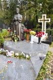 Ludmilla Ze Jin Na - sångaregravvalv i den novodevichy kyrkogården, moscow Arkivbild