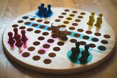 Ludo. Ludo board family game. Close-up view Stock Photography