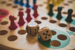 Ludo. Ludo board family game. Close-up view Stock Photo