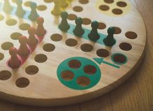 Ludo. Ludo board family game. Close-up view Royalty Free Stock Images
