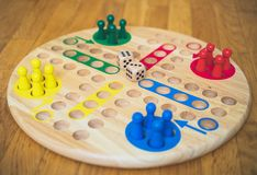 Ludo board family game. Close-up view Royalty Free Stock Photography