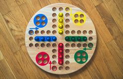 Ludo board family game. Close-up view Royalty Free Stock Photos
