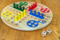 Ludo board family game. Close-up view Royalty Free Stock Images
