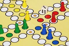 Ludo. Is a board game played between friends, family & kid Royalty Free Stock Photos