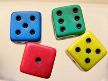 4 ludo dices Royalty Free Stock Image