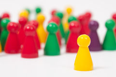 Ludo Figures Stock Photo