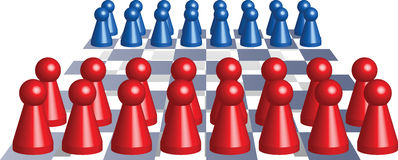 Ludo_figures_chess Fotografia de Stock Royalty Free